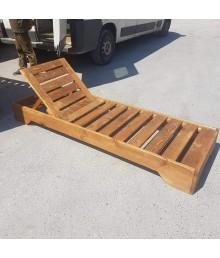 ξύλινες ξαπλώστρες ελληνικής κατασκευής
