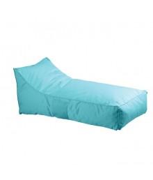 Πουφ Ξαπλώστρα Ανάκλιντρο - 100% Αδιάβροχο Ύφασμα Γαλάζιο