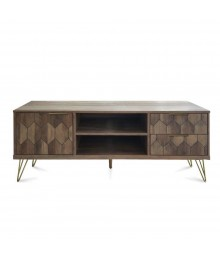 TV STAND 2ΠΟΡΤΕΣ ΚΑΡΥΔΙ ΜΕ PATTERN
